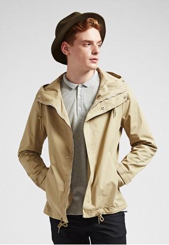 美式街頭。抗皺纖維。防潑水夾克-07349-卡esprit macau其, 服飾, 外套