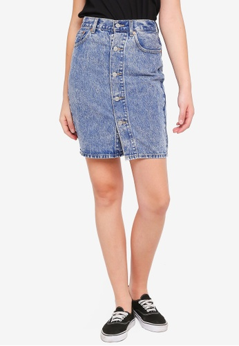 113eae4a17 Buy Levi's Button Through Midi Skirt | ZALORA HK