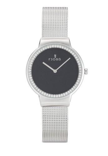 Frida 簡約網眼zalora 評價不銹鋼手錶, 錶類, 飾品配件