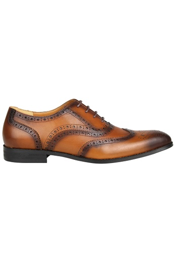 Tomaz brown Tomaz F231 Wingtip Brogues Lace Up (Brown) 6088BSH4A35286GS_1