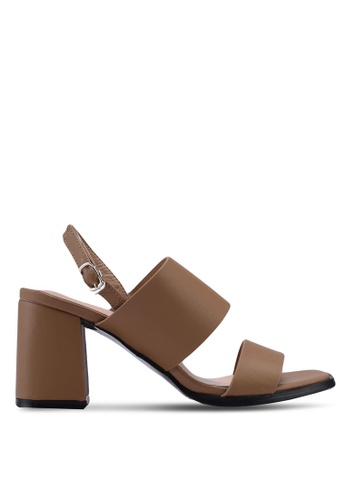 Something Borrowed brown Double Strap Chunky Heels C93CESH2A5853DGS_1