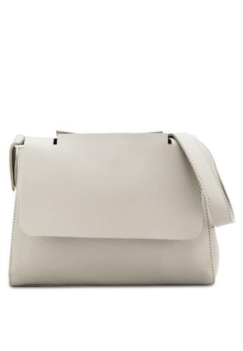 Sunnydaysweety grey Simple Front Flap Shoulder Bag A10110LGGY FF2D7ACD5941C5GS_1