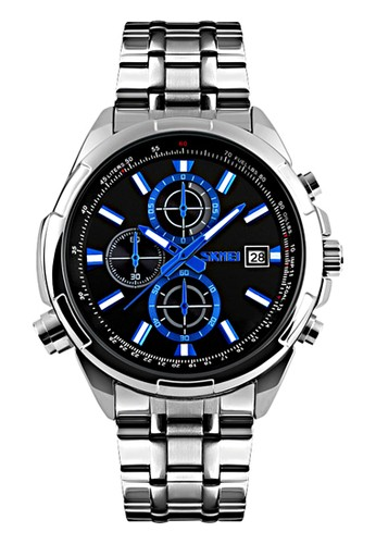 Digitec silver Skmei - Jam Tangan Pria - Silver Stainless Steel - 9107-A DI108AC23ASIID_1