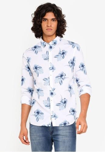 footwear release date hot new products Summer Flower Print Long Sleeve Shirt