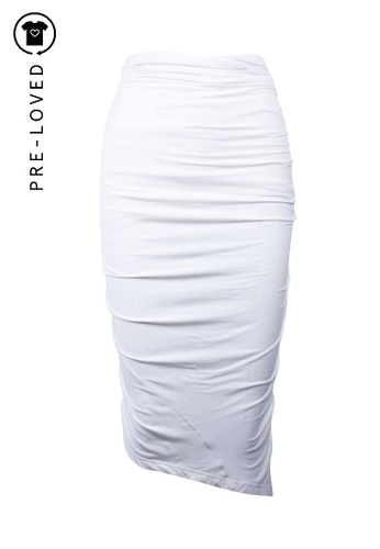 Donna Karan white Pre-Loved donna karan White Draped Skirt 9098AAAE8FC701GS_1