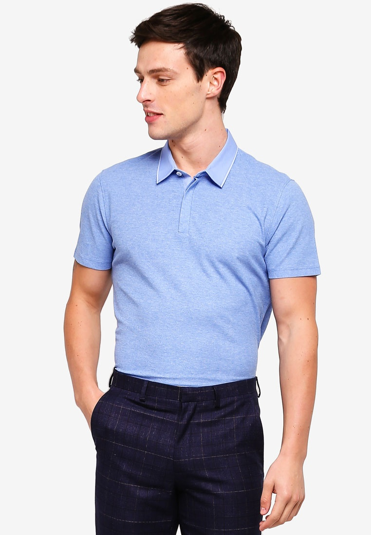 Blue Shirt G2000 Collar Twilight Polo Woven TBFwq7YBP