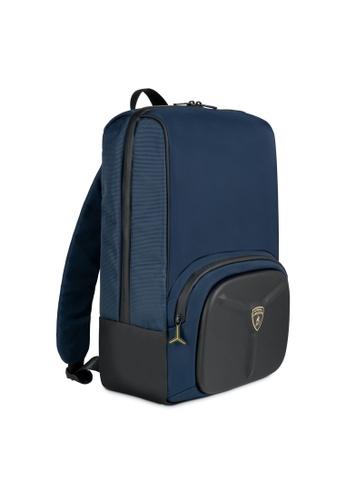 Lamborghini blue Automobili Lamborghini® LMBG3 Blue Backpack 1877CAC460867FGS_1