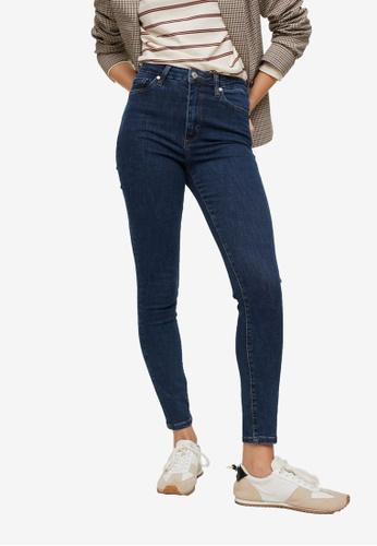 Mango 藍色 High-Rise Skinny Jeans 953F9AA543FF96GS_1