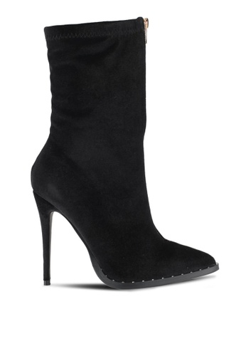 Something Borrowed black Suede High Ankle Zip Boots F2741SH45EE745GS_1
