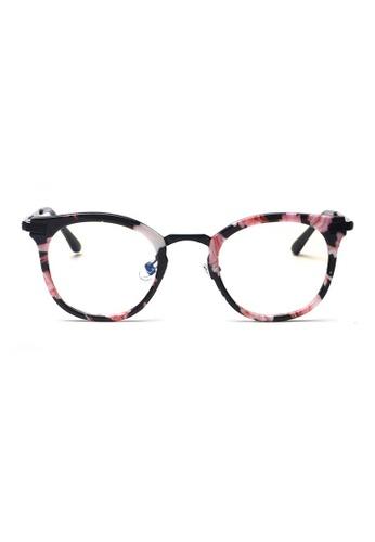 Kyfer's Eyewear & Essentials black and pink and multi GM Angular Glasses KY376AC95WNOSG_1
