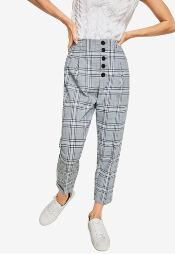 Mango blue Check Suit Trousers A2363AAFBCC1ADGS_1