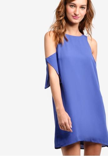 Something Borrowed blue Cold Shoulder A-Line Dress D5E29AAE77810DGS_1