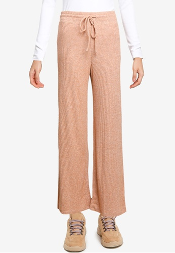 GAP pink Adult Softspun Ribbed Wide-Leg Pants FB8B1AAA20C267GS_1