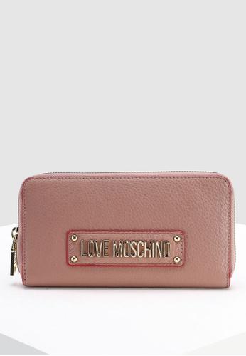 3a7dc32950 Shop Love Moschino Pebble Grained Zip Around Wallet Online on ZALORA  Philippines
