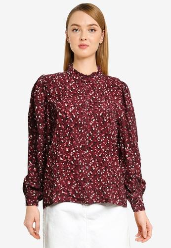 JACQUELINE DE YONG purple Milo Frill Shirt 80CC2AA025BC54GS_1