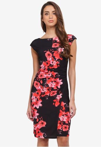 Wallis black Poppy Print Shift Dress 74B71AAFF4CFEAGS_1