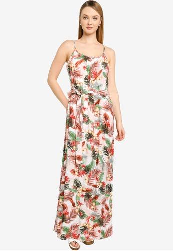 Vero Moda beige Simply Easy Slit Maxi Dress 3F757AAF27EFECGS_1