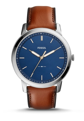 Fossil brown The Minimalist 3H Calfskin Watch FS5304 FO164AC0RTH0MY_1