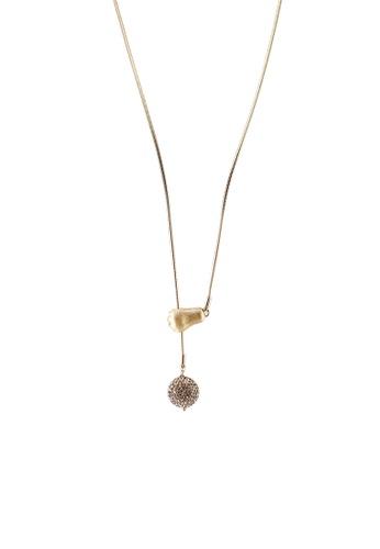 kate spade new york gold Paw Necklace (cv) A8714ACBA049C8GS_1