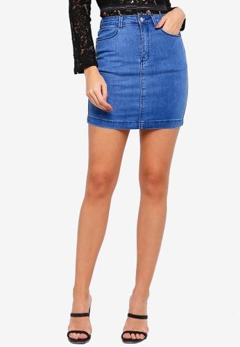 5dd26c3eaba Buy MISSGUIDED Super Stretch Denim Mini Skirt Online on ZALORA Singapore
