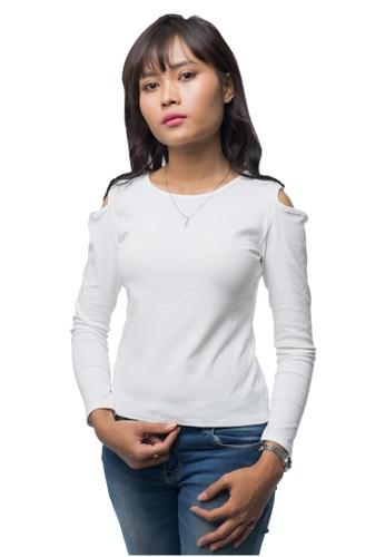 Junno white White Off Shoulder Blouse A1FADAA6FCAE49GS_1
