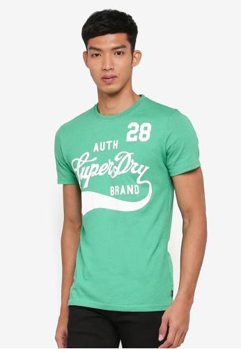 Superdry green Underline Tee 7795CAAF9F81BCGS_1