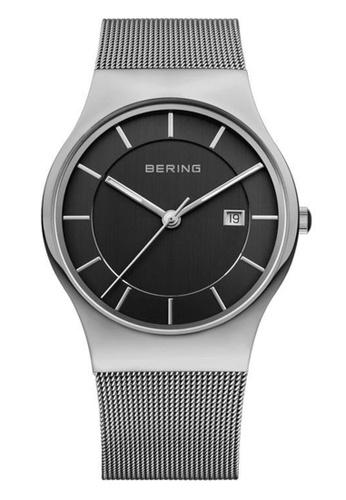 Bering silver Classic 11938-007 Grey 38 mm Men's Watch E2EE1AC4E1821FGS_1