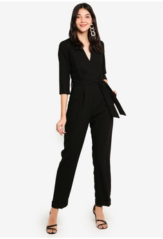 1a5f6342208 CLOSET black Cross Over Jumpsuit 270F2AA480D4BFGS 1