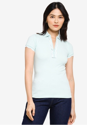 Sacoor Brothers green Women's Sports Slim Fit Polo Piqué 0E617AA3D01671GS_1