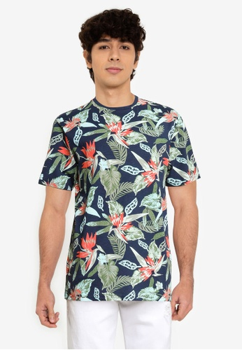 Only & Sons blue Organic Printed Tee E1594AA930DECFGS_1