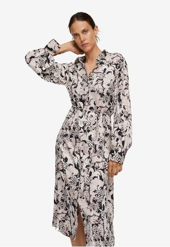 Mango black Printed Shirt Dress F9AEDAA2D42E0CGS_1
