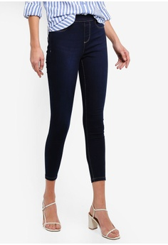 ab18ab49ded63 Dorothy Perkins navy Blue Black 'Eden' Denim Ankle Grazer Jeggings  91934AA2063AB3GS_1