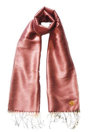 San Marco gold Glamour Raw Silk Pashmina RoseGold 55E2FAACE8BF68GS_1