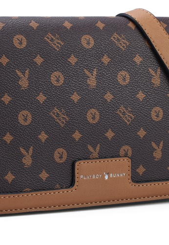 PLAYBOY BUNNY brown Sling Bag AD41CACED7E08FGS_1
