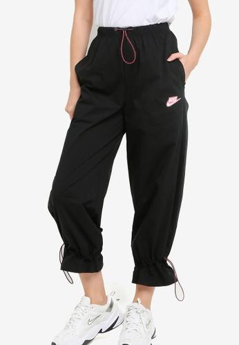 Nike black and grey Women's Sportswear Icon Clash Woven Pants 414C0AABC25527GS_1