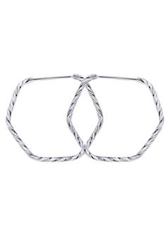 Hexagon Loop Earring