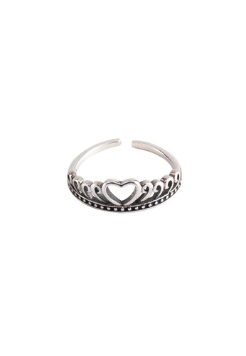 A-Excellence silver Premium S925 Sliver Crown Ring CAEDFAC821F459GS_1