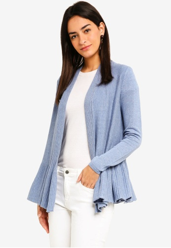 Max Studio blue Knit Cardigan E7424AA717FED3GS_1