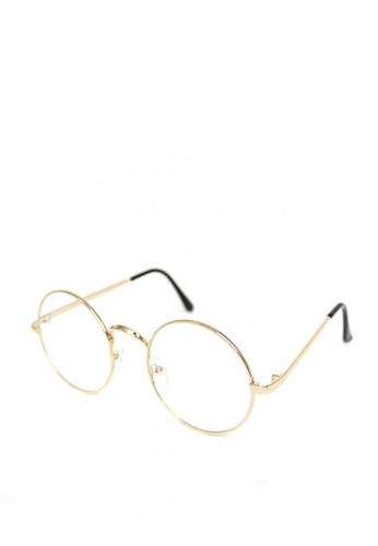 Peculiar and Odd gold Peculiar Round 3010 Anti Radiation Replaceable Lens Eyeglass 2E903GL58B230BGS_1