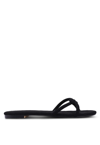 ZALORA black Knotted Easy Sandals 26ECASH7E00900GS_1