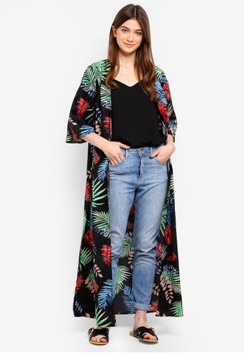 Something Borrowed multi Longline Kimono With Side Slits B854AAA5A00CFBGS_1