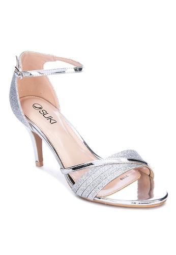 Suki silver Ankle Strap Heels A191BSH3459E5CGS_1