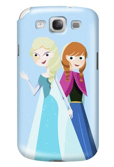 Elsa and Anna Glossy Hard Case for Samsung Galaxy S3
