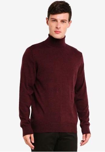 GAP red Merino Turtleneck Pullover 2DA8EAA8764AD3GS_1