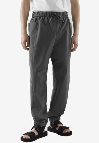 COS grey Drawstring Patch Pocket Jogger Pants 52A39AA389A722GS_1