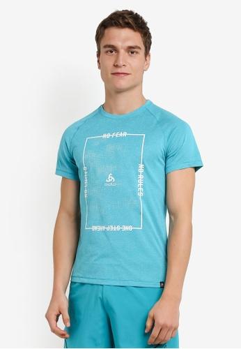 Odlo blue Aion Short Sleeve T-Shirt OD608AA0S13PMY_1