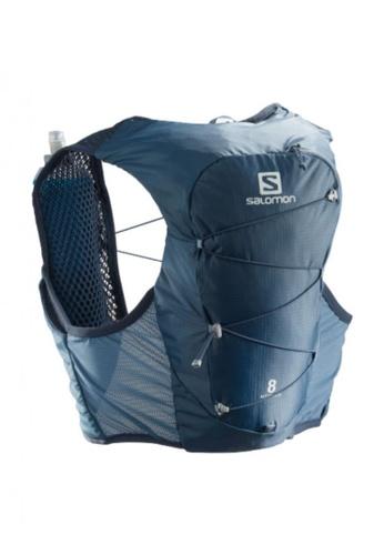 Salomon blue Salomon Unisex Trail Running Active Skin 8 Set Backpack Copen Blue / Dark Denim - 8L E50BDAC4D1FDB1GS_1
