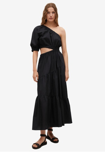 Mango black Vent Cotton Dress 855DEAA0C52D09GS_1