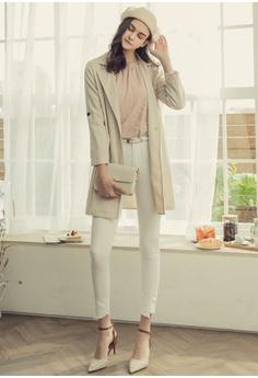 c79ff228868 63% OFF Eyescream Slim Fit Pants With Waist Belt HK$ 389.00 NOW HK$ 143.90  Sizes S M L