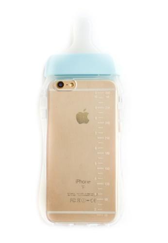Fancy Cellphone Cases blue Milk Bottle Soft Transparent Case for iPhone 6/6s FA644AC46CIZPH_1
